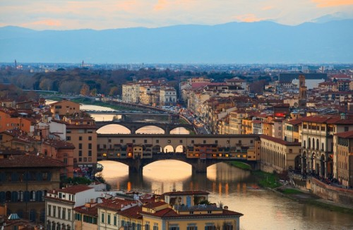 View of Ponte Vecchio in Florence tuscany. Italy